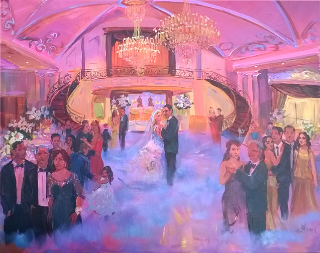maria frucci wedding painting