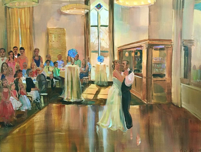 melissa hicksley wedding painting
